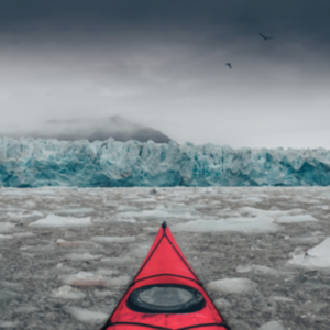 Photographie Kayak et glacier svalbard