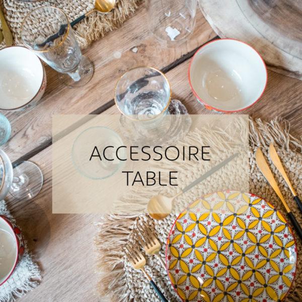 square accesoire table