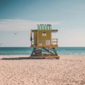 Photographie Cabine de plage à Miami Beach