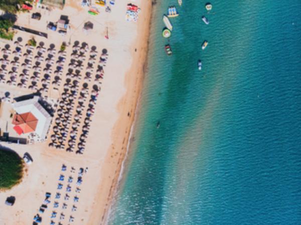 Photographie aérienne plage Zakynthos